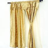 《布安於室》蘿蔓雙層遮光窗簾-黃金色