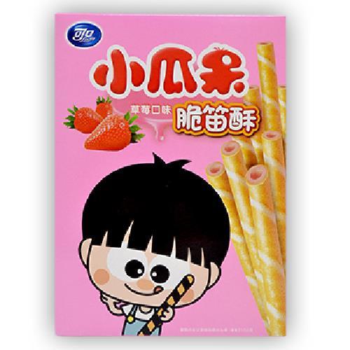 《可口》小瓜呆脆笛酥草莓量販包(210g/盒)