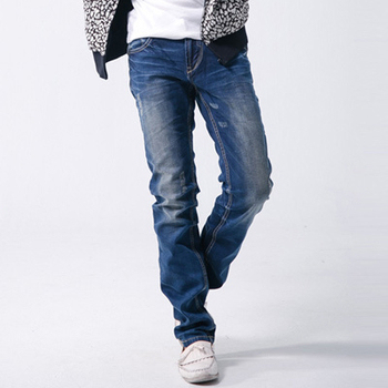 SCORPION 精緻刷白鬼爪伸縮窄版牛仔褲(32)