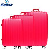 《YC Eason》尊爵頂級ABS硬殼行李箱三件組(戀愛紅)