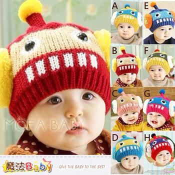 魔法Baby 機器人立體耳罩保暖毛線帽~k33212(A)