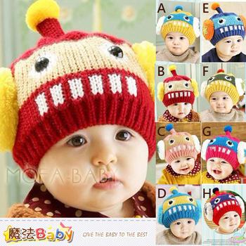 魔法Baby 機器人立體耳罩保暖毛線帽~k33212(C)