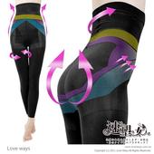 《速塑女人》280D平腹美尻超機能九分內搭褲(時尚黑)