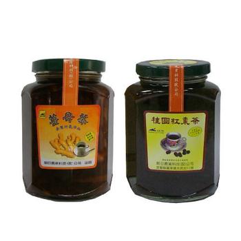 《朝日農業》手工果醬茶 暖冬4入組(桂圓紅棗茶*2+薑母茶*2)
