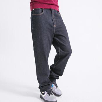FATAN 精簡素面高腰直筒牛仔褲(L)