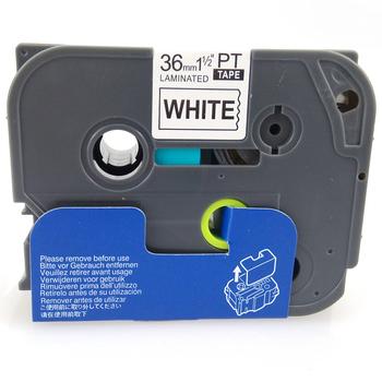 台灣榮工 BROTHER 相容 護貝 標籤帶 TZ-661 黃底 黑字 36mm