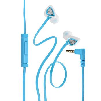 Genius HS-M250 抗噪耳道式手機專用耳機麥克風(藍色)