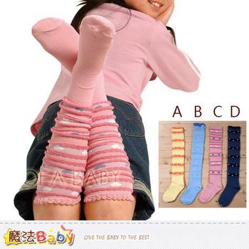 魔法Baby 條紋系兒童及膝泡泡襪~k00842(D/15~19cm)