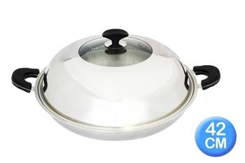 清水 透視七層複合金炒鍋42cm(CZ-3162)
