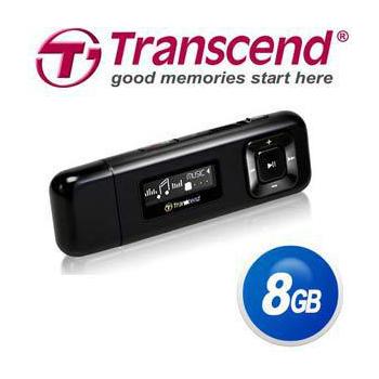 Transcend 創見 MP330R 8GB MP3 隨身聽-加送創見系列(TS-PA2A)320 用充電器(黑色)