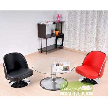 NaiKeMei-耐克美- 微笑旋轉和室椅(黑色)