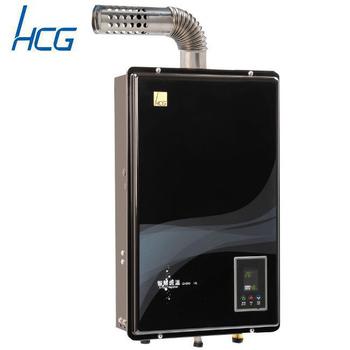 和成 GH596BQ 屋內強制排氣型智慧恆溫熱水器16L(黑色面板-桶裝瓦斯)