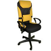 《凱堡》3M防潑水美學高背辦公電腦椅(黃)