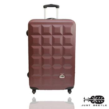 Just Beetle 趣味巧克力系列ABS輕硬殼24吋旅行箱/行李箱(巧克力)