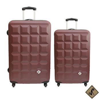 ★結帳現折★Just Beetle 趣味巧克力系列ABS輕硬殼24吋+20吋旅行箱/行李箱(巧克力)
