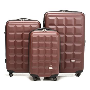 Just Beetle 趣味巧克力系列ABS輕硬殼3件組旅行箱/行李箱(巧克力)