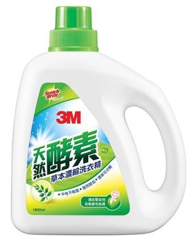 3M 酵素草本抗菌濃縮洗衣精(1800ml/瓶)