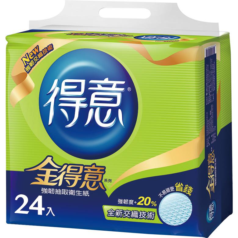《金得意》強韌抽取式衛生紙(100抽*24包/串)
