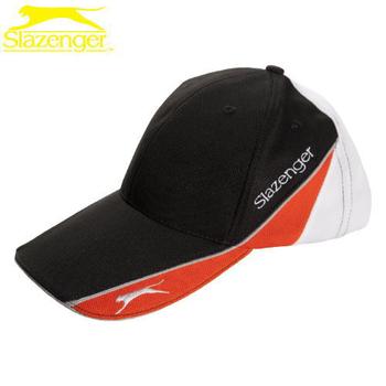Slazenger史萊辛格 透氣式專業網球帽(5003259黑/桔/白)