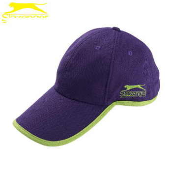 Slazenger史萊辛格 透氣式專業網球帽(5003232深葡萄紫/螢光綠)