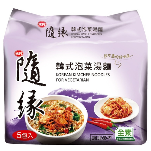 味丹 隨緣韓式泡菜湯麵(75g*5入/組)