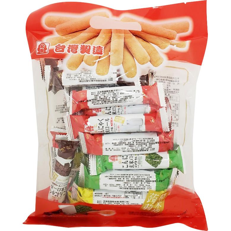 北田 蒟蒻糙米捲-綜合口味(320g/袋)