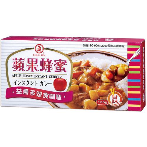 工研 蘋果蜂蜜速食咖哩(125g/盒)