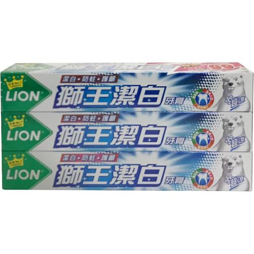 《獅王》潔白超涼牙膏(200g*3支/組)