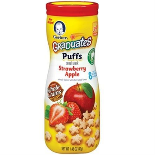 嘉寶 星星餅乾-蘋果草莓(42G/罐)