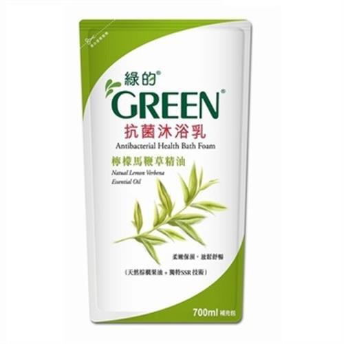 GREEN綠的 抗菌沐浴乳補充包-檸檬馬鞭草(700ml/包)