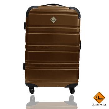 ★結帳現折★GATE9 經典橫紋系列PC亮面輕硬殼28吋旅行箱/行李箱(褐)