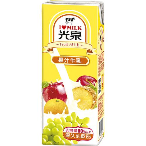光泉 果汁牛乳(200ml*24包/箱)