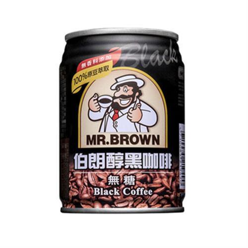 伯朗 醇黑咖啡無糖(240ml*6罐/組)