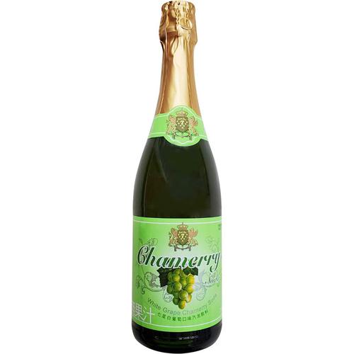 《七星》白葡萄口味汽泡飲料-玻璃瓶(750ml/瓶)