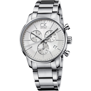 Calvin Klein Calvin Klein 時尚紐約計時鋼帶腕錶(K2G27146-銀白色)