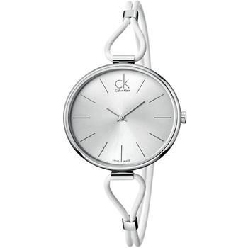 Calvin Klein Ladies 時尚仕女皮環錶(K3V231L6-白色)