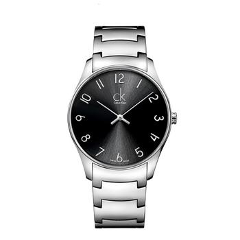 Calvin Klein Classic 簡約經典鋼帶錶-中型(K4D2214X-數字黑)