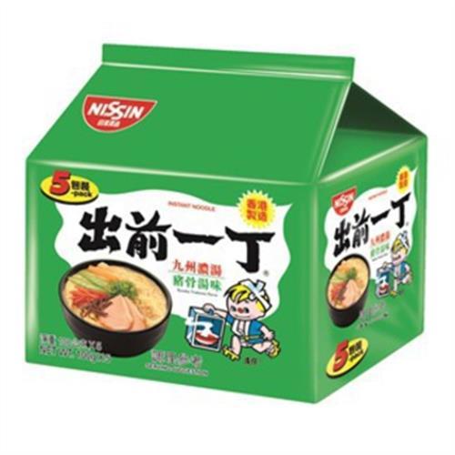 日清 出前一丁九州豬骨5袋拉麵(100g*5包/組)