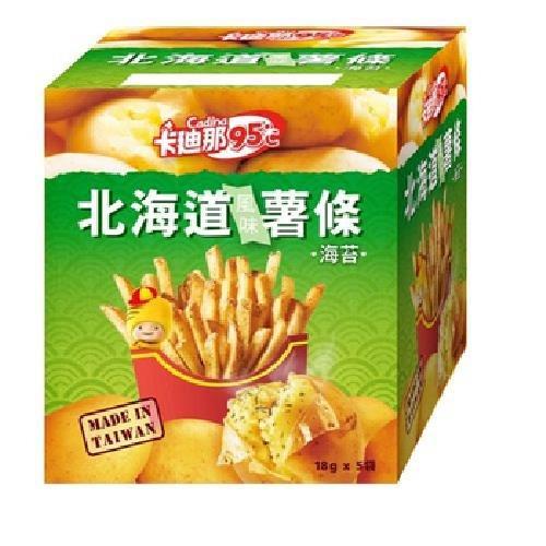 聯華 卡迪那95℃北海道風味薯條-海苔(90g/盒)