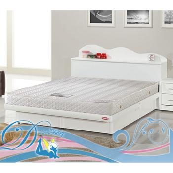 睡夢精靈 勿忘我飯店型輕柔型抗噪獨立筒床墊-單人加大3.5尺