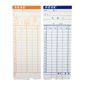 《COPER》四欄位電子式打卡鐘專用卡(100張/包)