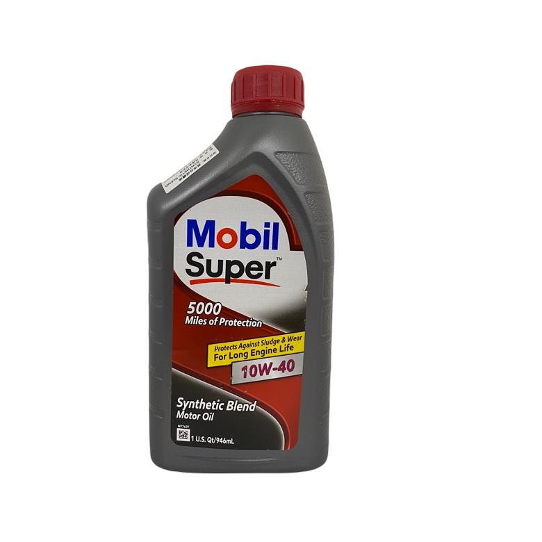 《美孚Mobil》超級10W40機油0.946升 $125
