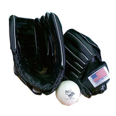 POLO 13吋/10吋膠皮親子棒球手套組