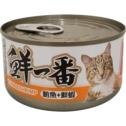 《鮮一番》貓罐(鮪魚+鮮蝦)(170g/罐)