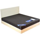 《時尚屋》和風緹花3.5尺加大單人硬式彈簧床墊(褐色)