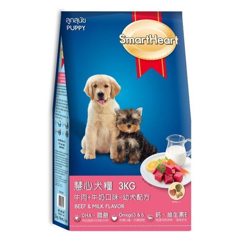 《慧心》牛肉+牛奶口味幼犬配方(3kg)