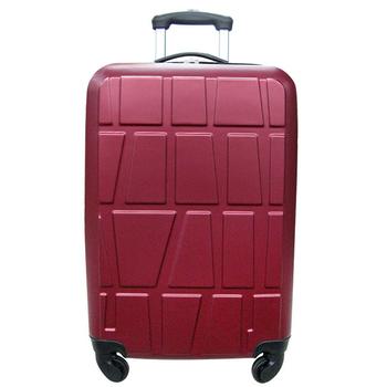 ★結帳現折★RAIN DEER *拚圖系列*26吋ABS輕硬殼行李箱(酒紅色)