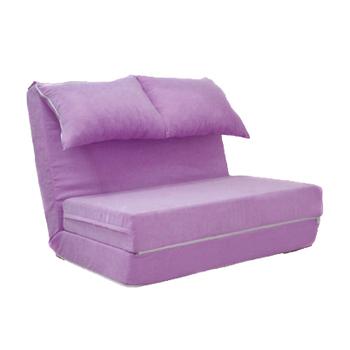 沙發製床家 彩色泡泡球沙發床椅-可拆洗(紫色)