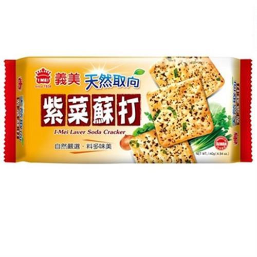 義美 天然取向蘇打餅乾-紫菜(140g/盒)