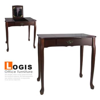 《LOGIS》歐式雅緻掀蓋化妝桌-2色(胡桃)